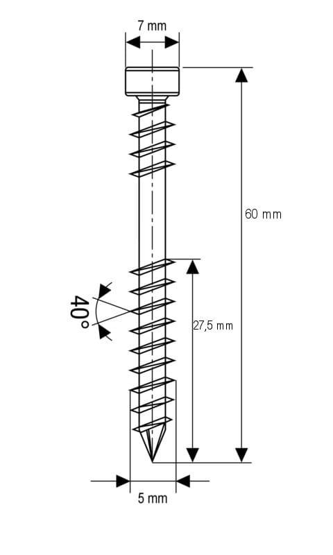 Nierdzewne Wkręty Spax D 5x60 Mm A2 Torx 100szt